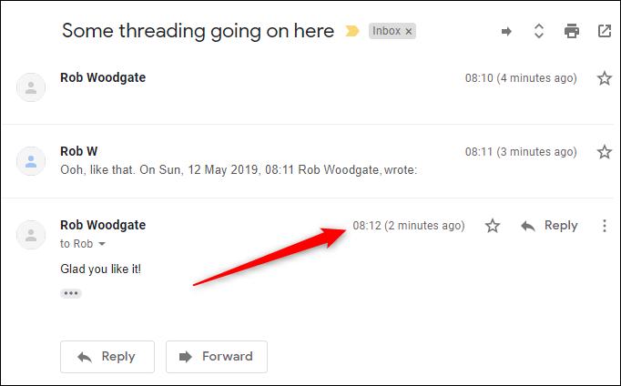 Cách hiển thị email mới nhất trên cùng cuộc trò chuyện Gmail