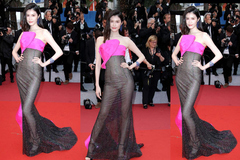 """Thiên thần số 1 châu Á mặc như """"bán khỏa thân"""" trên thảm đỏ Cannes là ai?"""