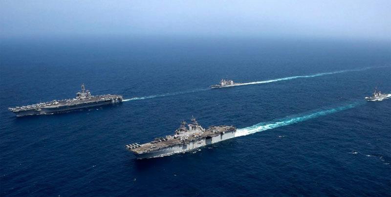 Mỹ,tàu chiến,tập trận,Iran