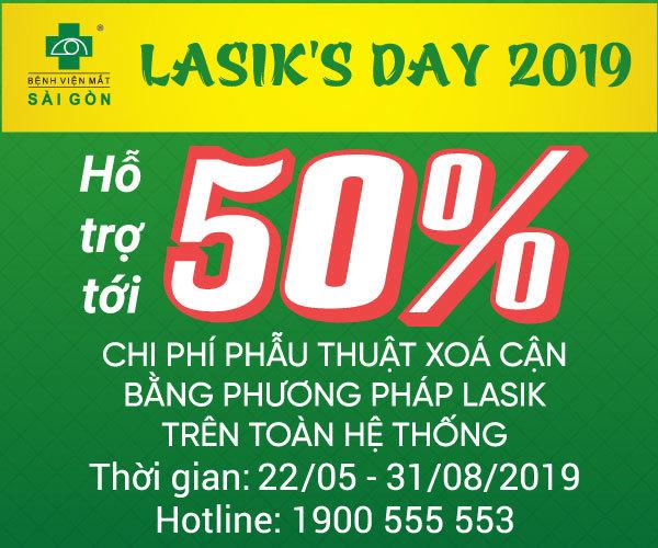 Lasik's Day 2019: Hỗ trợ đến 50% phí phẫu thuật tật khúc xạ