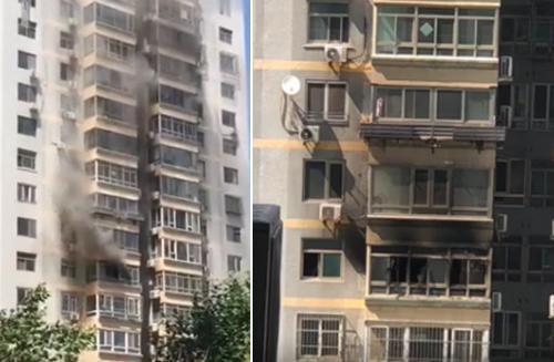 Căn hộ của 'Lưu Bị' bốc cháy dữ dội