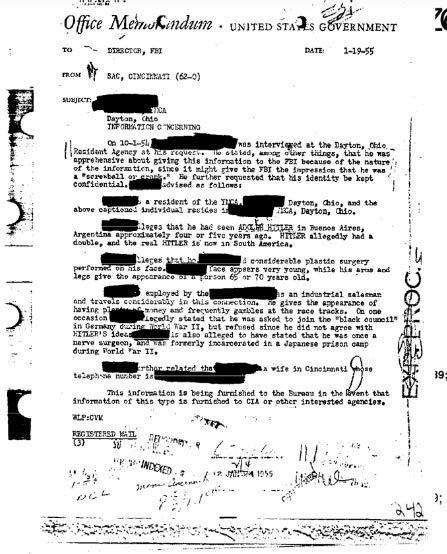 Hitler,FBI,CIA,Đức quốc xã,người thế thân