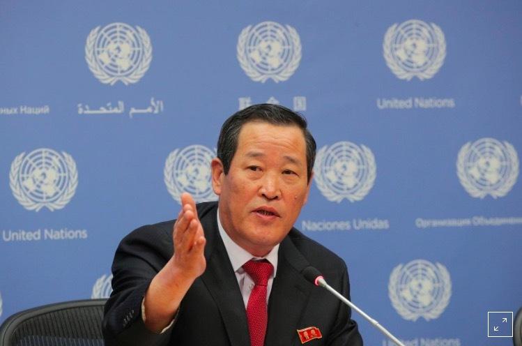 Đại sứ Triều Tiên,họp báo hiếm,Triều Tiên,tàu chở hàng,Mỹ
