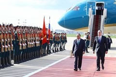 Official welcome ceremony for Vietnamese PM in Moscow