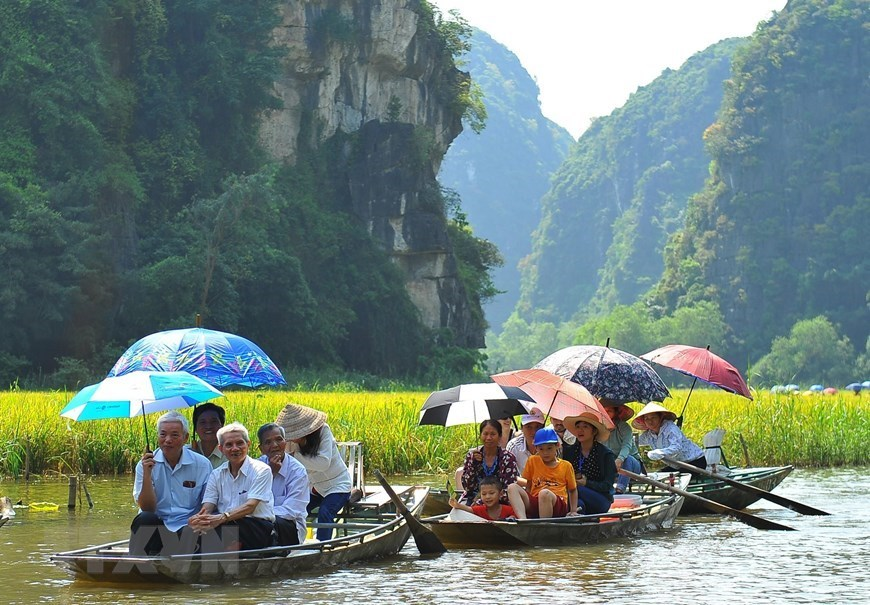 Alluring Tam Coc in ripe rice season