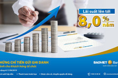 BAOVIET Bank tung ra sản phẩm chứng chỉ tiền gửi dành cho tổ chức
