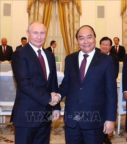 Thủ tướng Nguyễn Xuân Phúc,Nguyễn Xuân Phúc,Việt-Nga,Tổng thống Nga Putin,Tổng thống Putin
