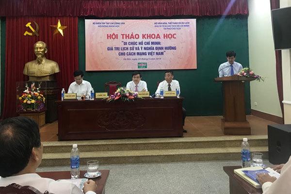 Hội thảo Di chúc Hồ Chí Minh: Giá trị lịch sử và ý nghĩa định hướng cho cách mạng VN