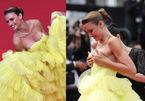 Người mẫu bị nghi cố tình tụt váy lộ vòng 1 trên thảm đỏ Cannes