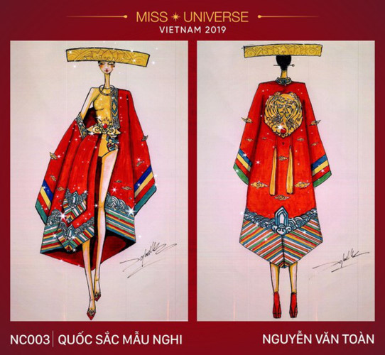 National costume entries emerge for Hoang Thuy at Miss Universe 2019