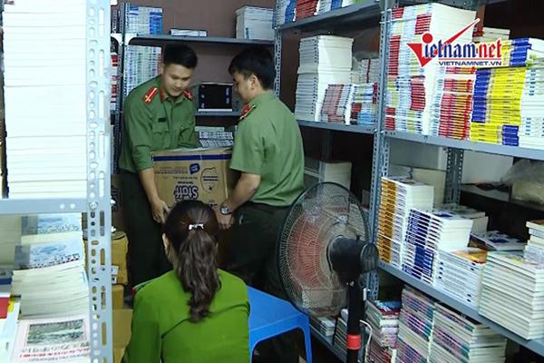 Kho hàng nghìn sách lậu 'đội lốt' quán cà phê ở Hà Nội