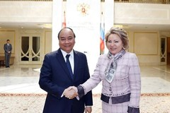 Prime Minister meets Russian upper house leader and State Duma Chairman