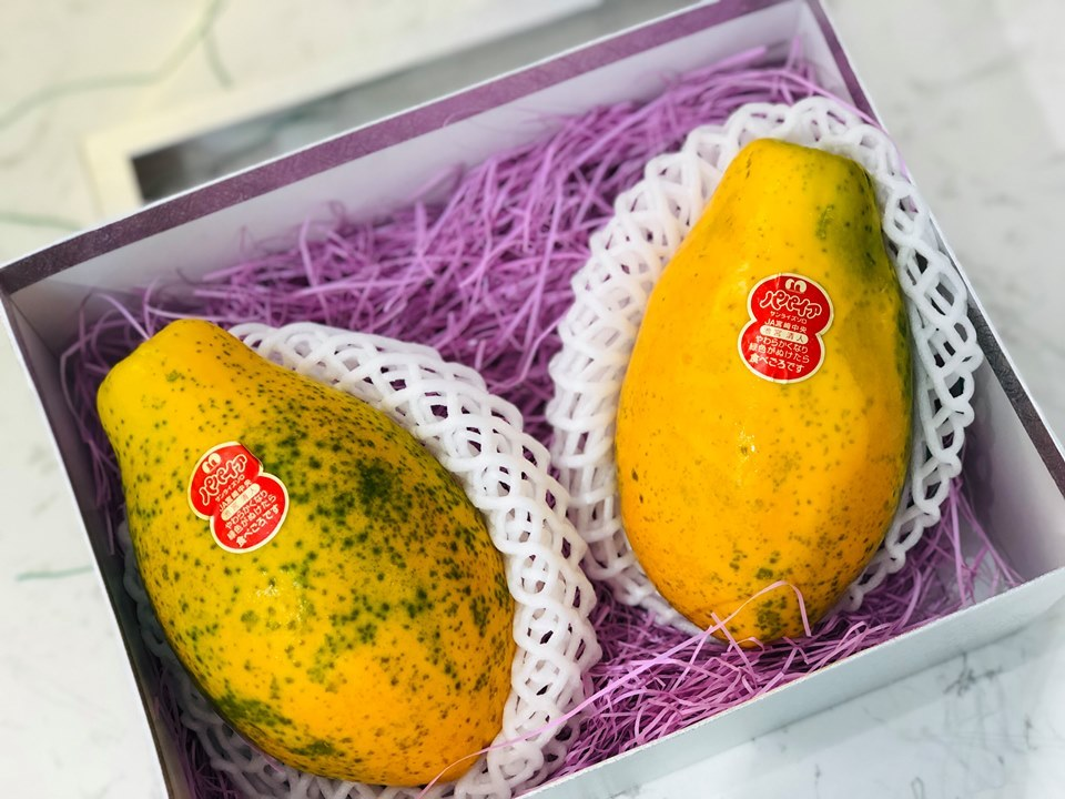 hoa quả Nhật Bản,trái cây Nhật Bản,đu đủ,hoa quả nhập khẩu