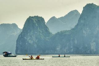 Kayaking in UNESCO-recognised Ha Long bay