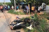 Sau va chạm xe máy, 2 người đàn ông bị xe khách cán chết