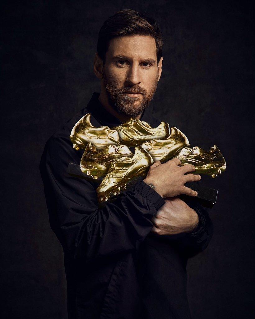 Messi,Lionel Messi,Kylian Mbappe,Chiếc giày vàng châu Âu,Barca