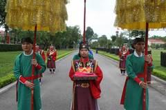Tái hiện Lễ ban quạt trong cung đình thời Lê Trung Hưng ở Hoàng Thành