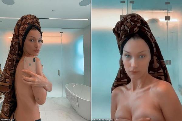 Bella Hadid gây tranh cãi khi đăng ảnh bán nude