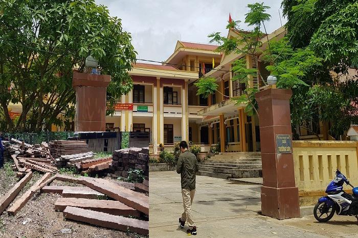 Gần 5m3 gỗ lậu cất giấu trong phòng làm việc ủy ban xã ở Quảng Bình