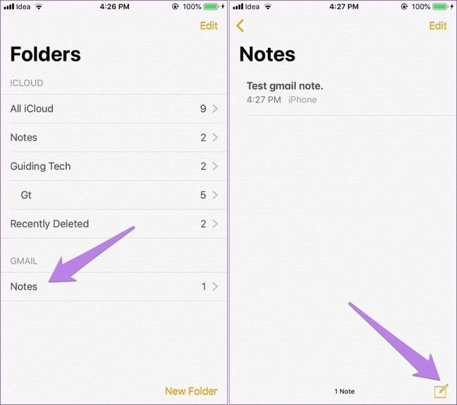 Tuyệt chiêu xem ghi chú iPhone trên Gmail