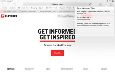 Cách mở lại tab vừa đóng trên Safari