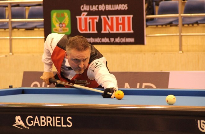 Belgian cueist shines at Carom Billiard World Cup in HCM City