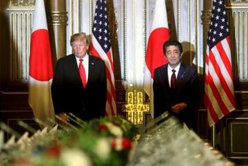 Ông Trump ủng hộ Thủ tướng Nhật gặp Kim Jong Un
