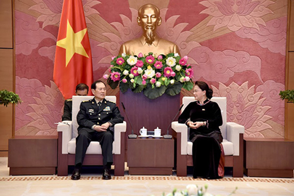 Chủ tịch Quốc hội tiếp Bộ trưởng Quốc phòng Trung Quốc