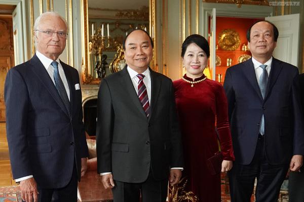 Thủ tướng hội kiến Quốc vương Thụy Điển