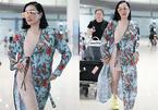 'Bom sex gốc Việt' mặc váy mỏng như đồ ngủ khoe thân hình gợi cảm ở sân bay