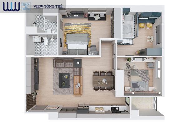 Eurowindow River Park- giải pháp 'tăng diện tích' căn hộ gia đình trẻ