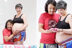 Sao TVB khoe vợ tóc hoa râm, mang bầu lớn ở tuổi 52