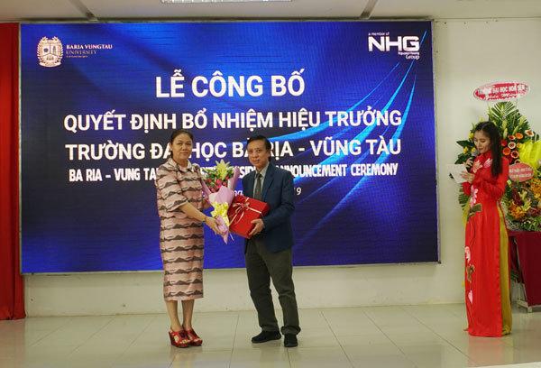 Trường Đại học Bà Rịa - Vũng Tàu có hiệu trưởng mới