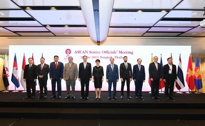 ASEAN senior officials gather at Bangkok meetings