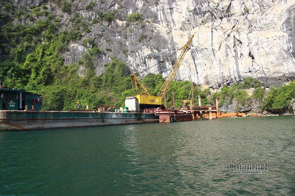 Bến tàu ở vùng lõi vịnh Hạ Long sắp xong, tỉnh vội cấp phép môi trường