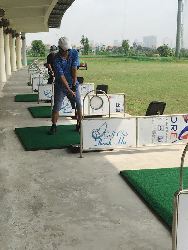 sân tập golf,golf thủ