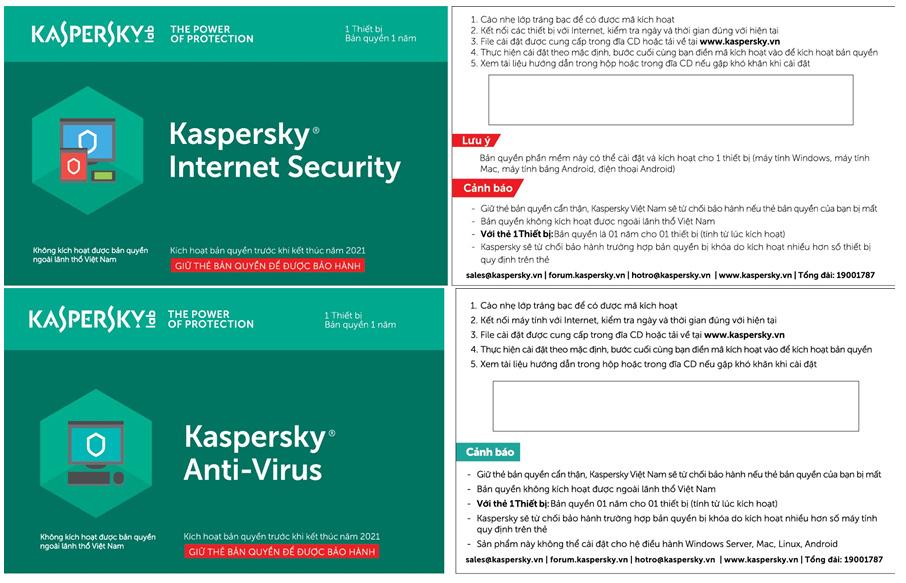 Phần mềm bảo mật Kaspersky giả được rao bán giá rẻ tràn lan
