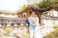 Dương Khắc Linh chụp ảnh cưới cùng hôn thê kém 13 tuổi ở Hàn Quốc