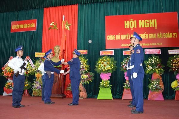 Công bố quyết định triển khai Hải đoàn 21 của Bộ Quốc phòng