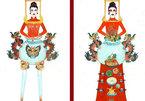 Trang phục 'bàn thờ' thiết kế cho Hoàng Thùy gây tranh cãi dữ dội