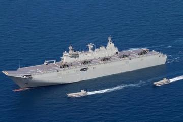 Trực thăng quân sự Australia bị chiếu laser ở Biển Đông