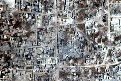 Cảnh tro tàn chết chóc vì chiến tranh ở Syria qua ảnh vệ tinh