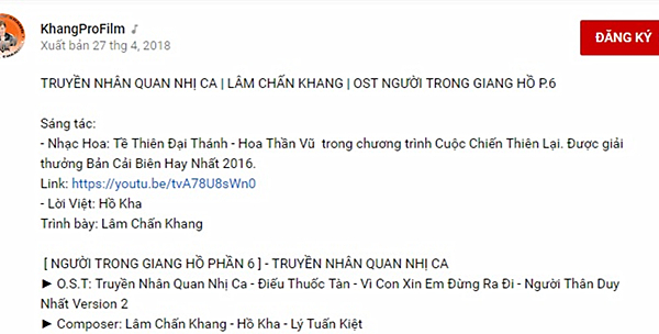 Blogger Trung Quốc tố Lâm Chấn Khang đạo nhạc Hoa Thần Vũ