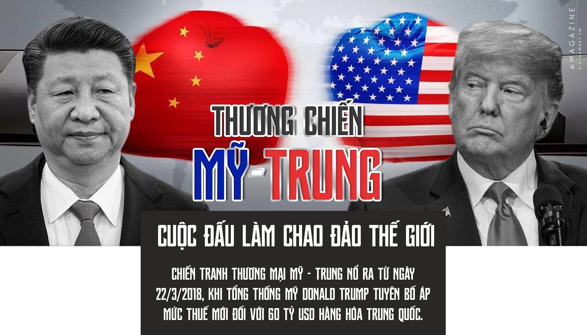 chiến tranh thương mại,Mỹ,Trung Quốc,chính sách thuế,căng thẳng thương mại,thương chiến