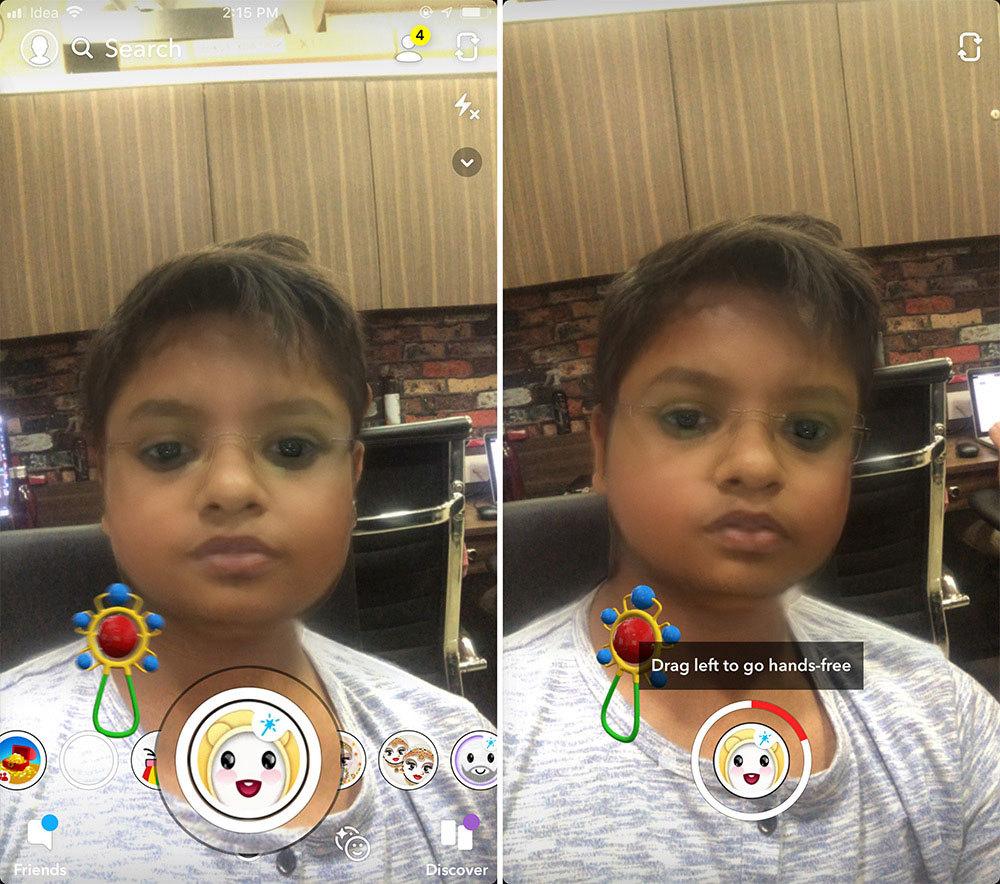 Cách chuyển avatar người lớn thành trẻ con với ứng dụng Snapchat