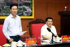 Bộ Chính trị kiểm tra công tác tổ chức, cán bộ tại Thái Bình