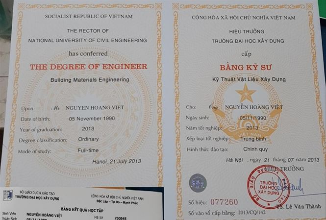 Fake degrees widely sold in Vietnam