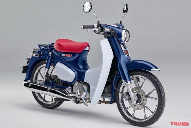 Huyền thoại Honda Cub C125 xanh lam xám tuyệt đẹp