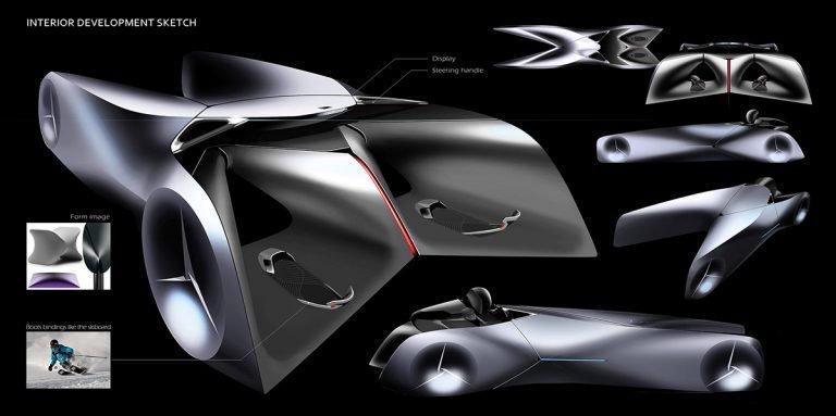 Mẫu ô tô siêu độc Concept Chariot lái như xe máy