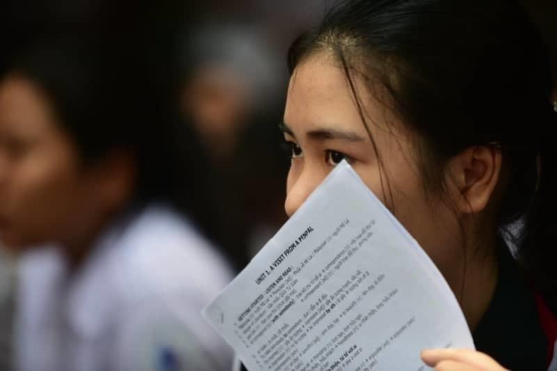 Sai chính tả trong đề thi tiếng Anh lớp 10 ở TP.HCM
